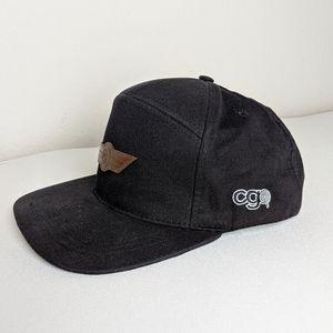 CG Habitats Inc flat rim snapback black hat cap